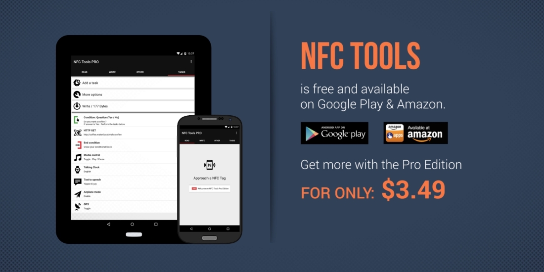 Get more with NFC Tools Pro Edition