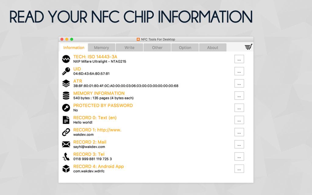 NFC Tools - PC / MAC