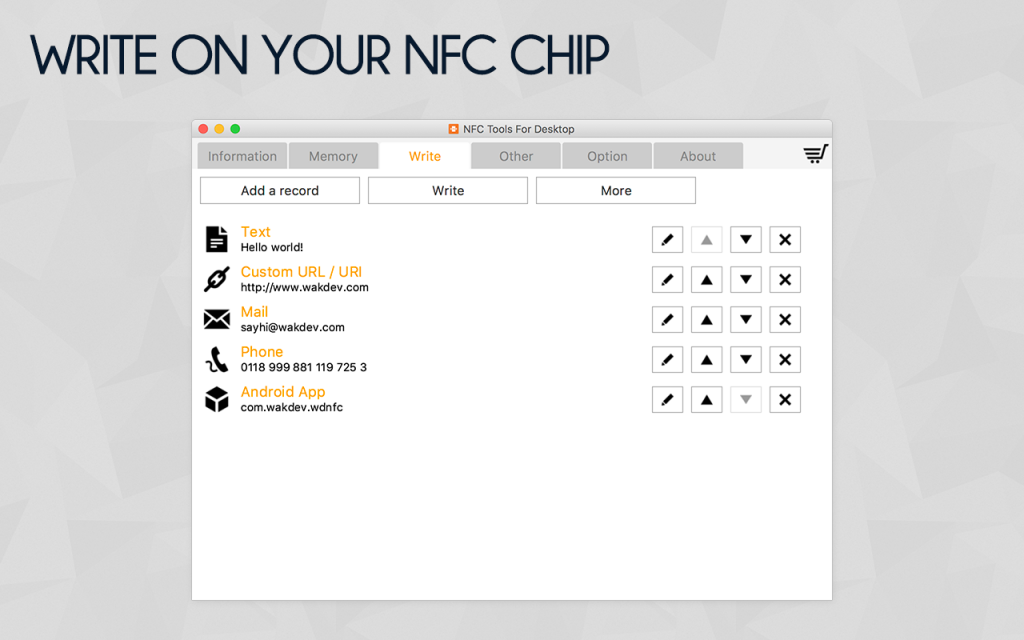 NFC Tools - PC / MAC